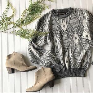 Vintage Grey white boyfriend sweater